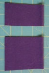 "Step 4: Two pieces of jersey, cut on the fold - both measure at 3.5"" (7"" total when opened) to a height of 2.5"" and 3""."