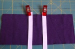 Step 14: Ribbon placed and ready to sew!